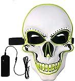 Màscara LED Halloween,LED Màscares Carnestoltes amb 3 Maneres d'Il·luminació,Lluminosa *Craneo Esquelet Masteguessis, per a Nadal, Halloween, *Grimace Festival, Festa Xou i *Cosplay