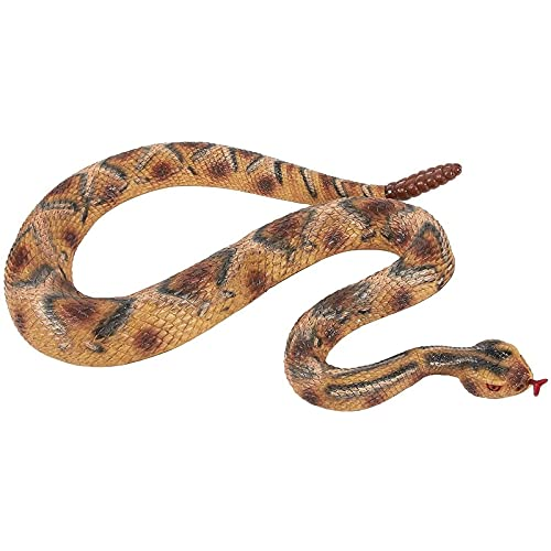 Blue Panda Realistic Fake Rattlesnake - Rubber Snake - Perfect for Halloween Decorations, Pranks or as Squirrel Repellent -Multicolored, 47 x 1.5 x 2 Inches