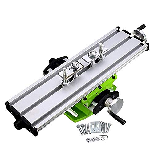 LHXY Hardware Tools Compound Table Working Cross Slide Table Worktable for Milling Drilling Bench Multifunction Adjustable X-Y Coordinate Table Nice Durable