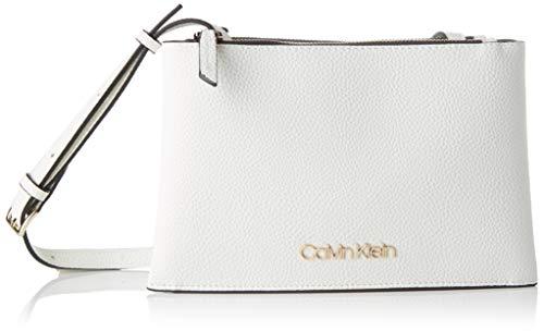 Calvin Klein Damen Sided Trio Crossbody Umhängetasche, Weiß (White), 1x1x1 cm