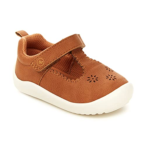 Stride Rite 360 Infant and Toddler Girls Cheyenne First Walker Shoe, Tan, 5 Toddler