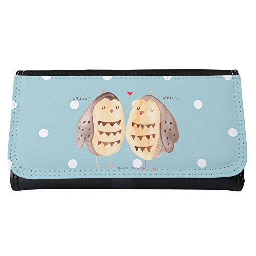 Mr. & Mrs. Panda Damer, plånbok, damer plånbok uggla kärlek – färg turkos pastell