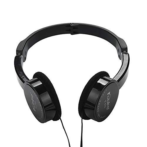 Marxways Kids Wire Headphones On Ear Faltbares Stereo-Headset für Kinder Kopfhörer für iOS Android Smartphone Laptop Tablet PC Computer (Schwarz)