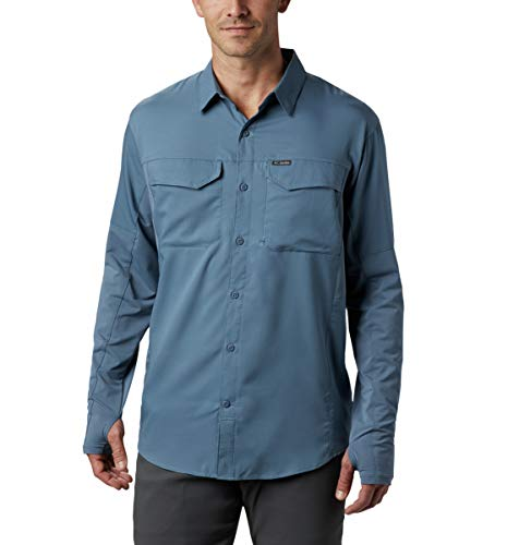 Columbia Silver Ridge Lite - Camisa híbrida de Manga Larga para Hombre, Hombre, 1884121, Montaña, L