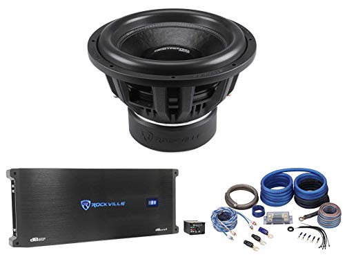 Rockville Destroyer 15D2 15 inch Competition Car Subwoofer+Mono Amplifier+Amp Kit