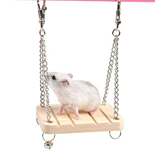 Naisidier Parrot Hamster kleine Holzbrücke 1-on Swing Spielzeug Anzug Niedliche, lustige und lustige Spielzeuge, die es wert sind