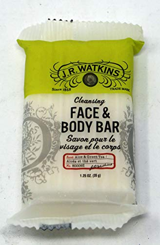 J.R. Watkins Aloe and Green Tea Soap Set of 22-1.25oz Each Bar