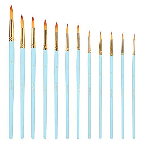Houten pennenhouder penseel set 12-delige penselen, voor aquarel, acryl & olieverfschilderijen Olieverf set