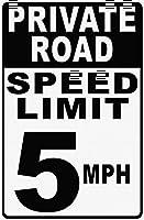 Speed Limit 5 Mph 金属板ブリキ看板警告サイン注意サイン表示パネル情報サイン金属安全サイン