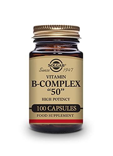 Solgar   Vitamina B-Complex '50' Alta potencia   Metabolismo energético y Rendimiento Intelectual  Reduce el cansancio y la fatiga   50 Cápsulas vegetales