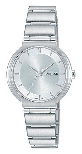Pulsar dames analoog kwarts horloge met roestvrij stalen armband PH8325X1