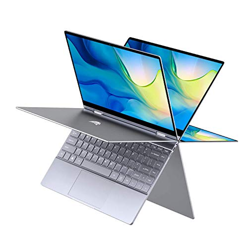 BMAX Y13 2 in 1 Laptop, 13.3 Zoll FHD Touchscreen, Convertible Notebook, 2.4 GHz Intel Gemini Lake N4100 Cup, 8 GB LPDDR4-RAM, 256 G Speicherkapazität, Vollmetallgehäuse, Windows 10 Home