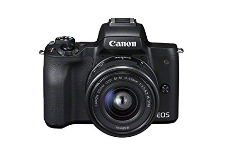 Canon EOS M50 Compact System Camera and EF-M 15-45 mm f/3.5-6.3 IS STM Lens - Black