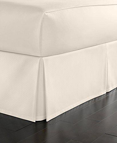 Martha Stewart Simple Pique Twin Bedskirt Vanilla
