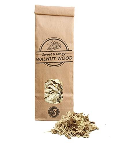 Smokey Olive Wood 500mL cippati da affumicatura Legno di Noce, Nº3: 2-3cm