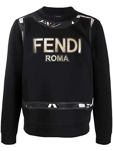 Fendi Luxury Fashion Herren FY0178ABP5F0QA1 Schwarz Baumwolle Sweatshirt | Frühling Sommer 20