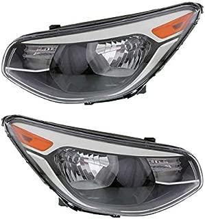 Koolzap For 14-19 Soul Front Headlight Headlamp Non-Projector Head Light Lamp Set Pair
