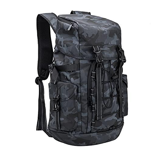 NOBLEMAN Reise Outdoor-Sport Camouflage Rucksack herren Wanderrucksack Trekkingrucksack wasserdicht freizeit Camping Klettern Radfahren arbeitsrucksack 26L 15.6 Zoll Laptop (Blue&Black)