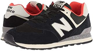 New Balance Classics(ニューバランス クラシック) メンズ 男性用 シューズ 靴 スニーカー 運動靴 ML574v2 - Black/Flame [並行輸入品]