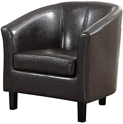 Amazon.com: Hebel Austin Faux Leather Tub Chair | Model ...