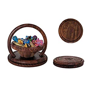 Holidays Gift Gourmet & Food Basket Bowl Tray Nuts Candies Fruit Assortment Tray, Thanksgiving, Christmas, New Years, Sympathy, Father's & Mother's Day, Family Parties, Birthday