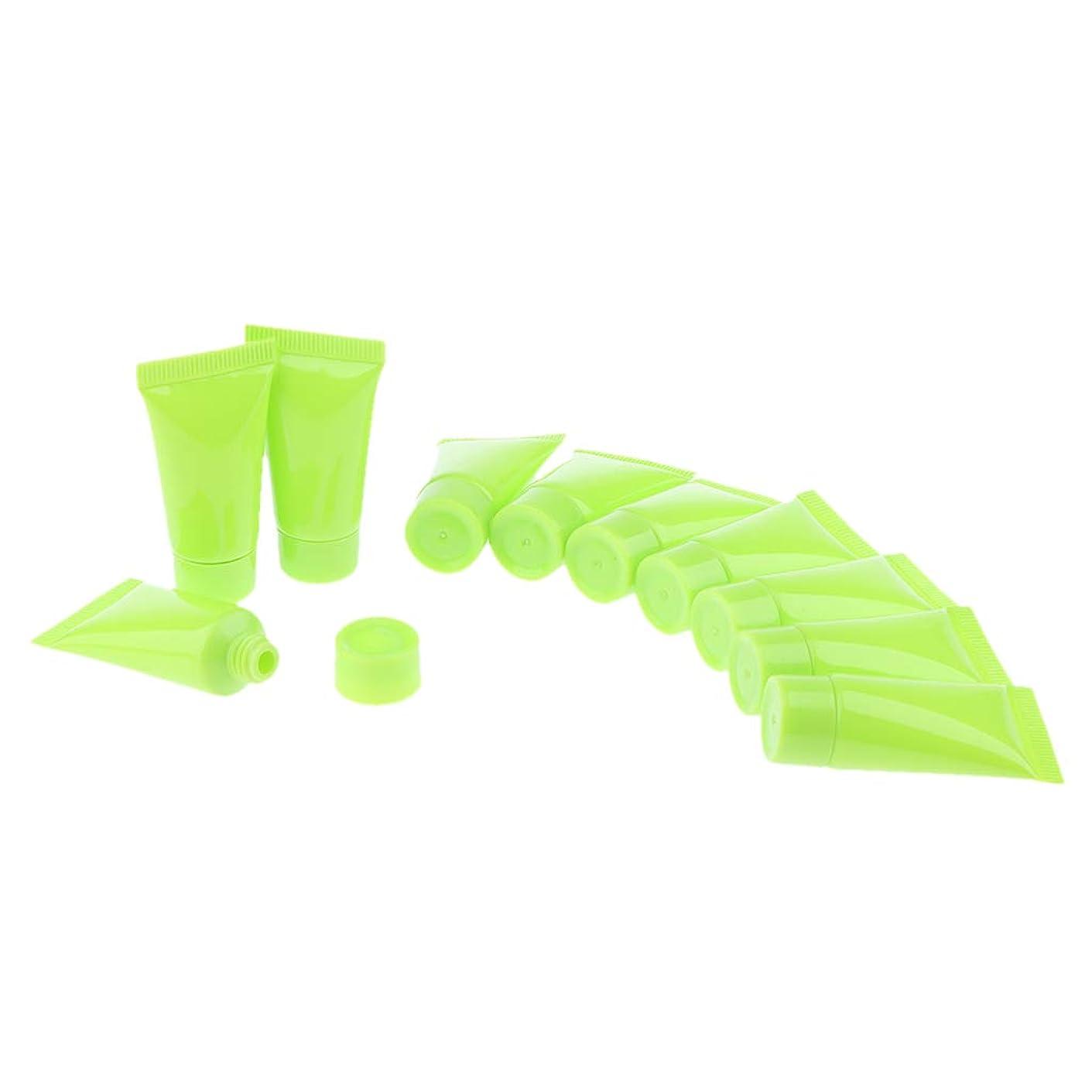 千開拓者メロドラマIPOTCH 10個 メイクアップチューブ クリーム スクイーズボトル 3色選べ - 緑