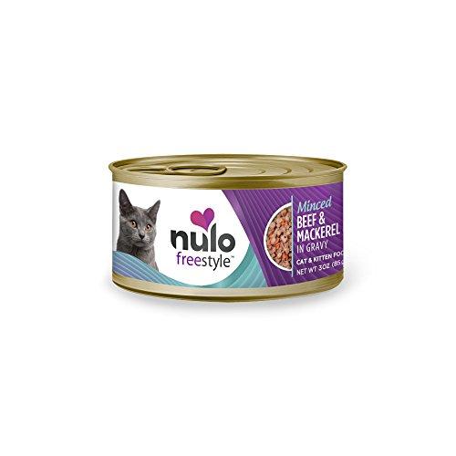 Nulo Adult & Kitten Grain Free Canned Wet Cat Food (Beef & Mackerel Recipe, 3 Oz, Case Of 24)