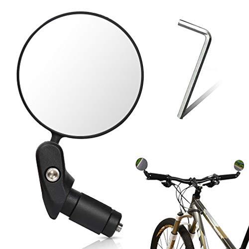 Specchietti Bici Specchietto Retrovisore per Bicicletta, 360° Grandangolo Regolabile Specchio Rotante Specchio Convesso per 17.4 – 22 mm Manubrio di Bicicletta, per Mountain Road Bike Bici da Corsa
