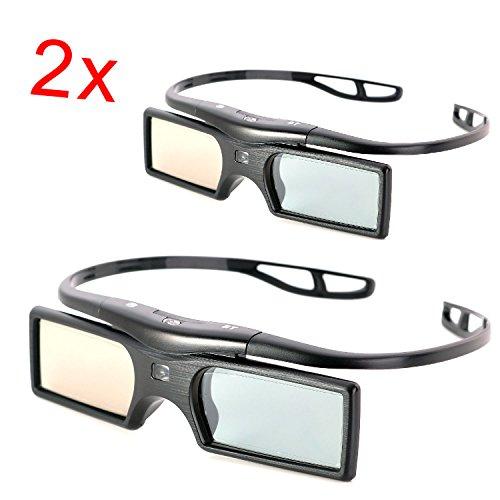 2 piezas gafas 3d para Sony TV TDG-BT500A TDG-BT400A BT500a BT400A modelos x 2 por Beamerlampe