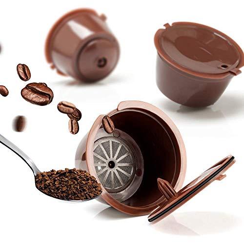 Pack 2 Cápsulas de Café Reutilizables con Filtro, Reutilizables Capsulas, Cápsulas Recargables, Compatibles con maquina Dolce Gusto
