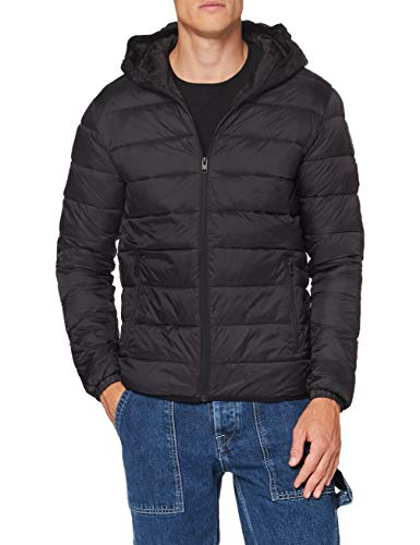 JACK & JONES Male Wattierte Jacke Kapuzen LBlack