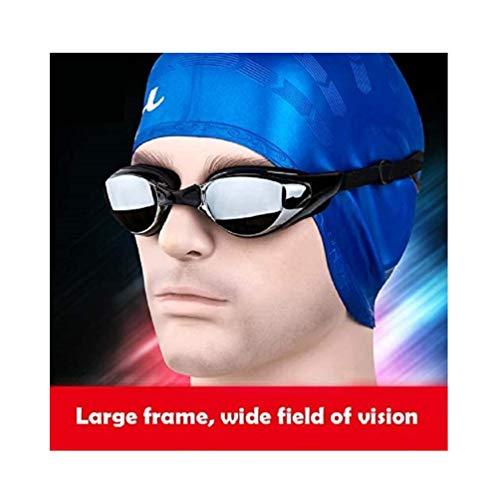 Warmiehomy Kurzsichtige Schwimmbrille (0 bis -800), kurzsichtige UV400-UV-Schutzbrille, mit verstellbarem Gummi-Gurt, Dicker Verstellbarer Spiegel für Erwachsene Männer Frauen Kinder (-5.0,-500)