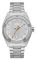 Bulova 腕時計 並行輸入品 Harley-Davidson Women's Crystal Embellished B&S Stainless Steel Watch 76L187 76L187 [並行輸入品]