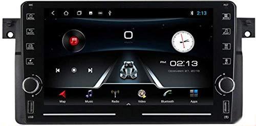 KLL 9' Android 10.0 Autoradio 1 DIN con Schermo per BMW E46 1998-2006 GPS Navigation Stereo Auto Bluetooth Supporto Carplay USB Controllo del Volante