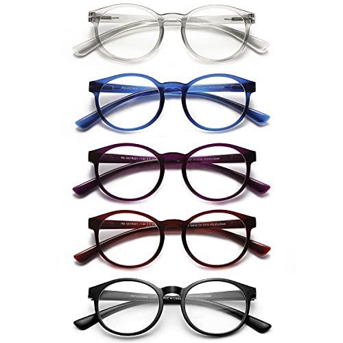SKYWAY Feder Scharnier (5 Pack) Lesebrillen Sehhilfe Augenoptik Brille Lesehilfe für Damen Herren (2.5x Dioptrien)
