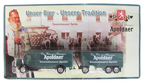 Apoldaer Vereinsbrauerei Nr.31 - Unser Bier, unsere Tradition - Faun L7 - Hängerzug Oldie