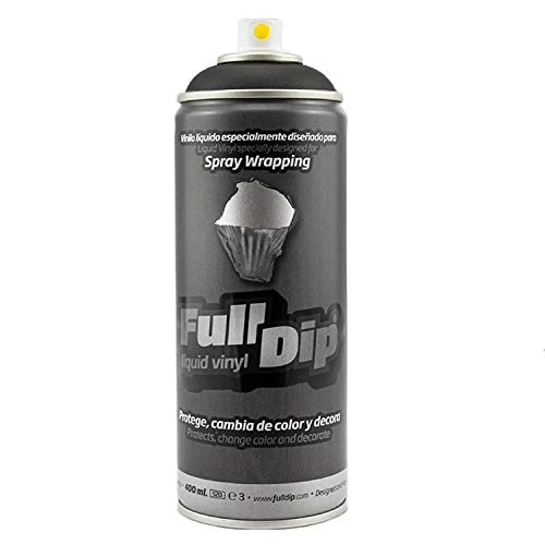 AutoFullCar Pack Sprays Full Dip Negro Mate o Negro Brillo Llantas hasta 20 pulgadas FullDip (NEGRO SPRAY 400 ML)