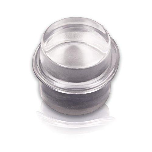 BRINOX Tope metacrilato cilíndrico. Goma Transparente, 3.3x3.2x3.2 cm