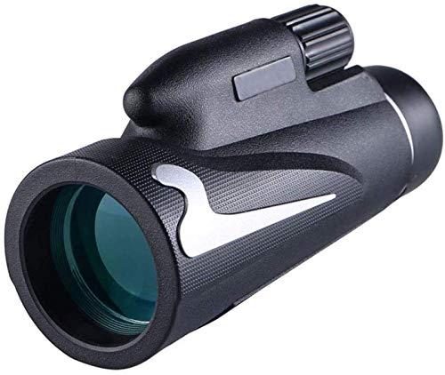 FGDSA Monocular Compacto De Alta Potencia 12X50 con Visión Nocturna Bak4 Prism Fmc Lente Monocular con Adaptador para Smartphone Y Trípode Observación De Aves