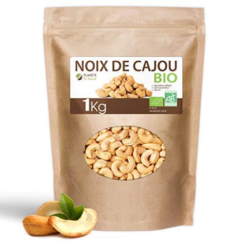 Noix de Cajou Bio - 1kg - Décortiquées - Non Salées - Non Grillées