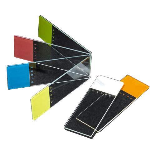 Globe Scientific 1334N-144 - Guía para microscopio de cristal de borosilicato, bordes biselados de 45°, esquinas recortadas, color naranja esmerilado, 25 mm de ancho x 75 mm de largo, 144 unidades