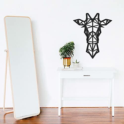 ODUN ARTS - Jirafa - Cuadros Decorativos Modernos Elaborados en Madera - Decoración Elegante de Pared - 76 cm Alto X 65 cm Ancho X 1...
