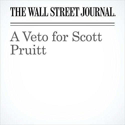 A Veto for Scott Pruitt copertina