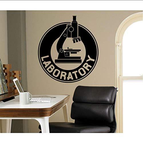 Layyyqx Labor Wandaufkleber Vinyl Aufkleber Chemie Mikroskop Kunst Dekoration Home Interior Schlafzimmer Bürobereich Dekorative Aufkleber 57X63 Cm