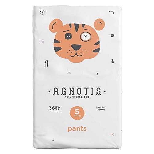 AGNOTIS - 144 Baby Pants Größe 5 für Babys 13-17 kg   mit hervorragendem Auslaufschutz und Feuchtigkeitsindikator   dermatologisch getestet  4 Pkg x 36 Höschenwindeln, 0,23€ Stk