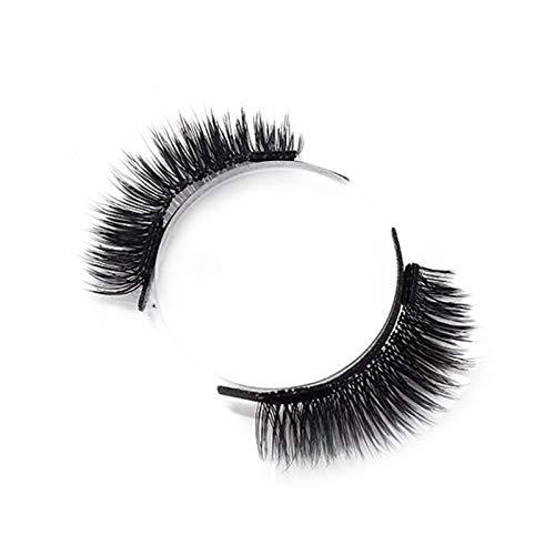 LIDABAO Magnetic Eyelash Kit Reusable Fluffy 3D Eyelash Mink Lashes Natural Look Lashes for Women Handmade