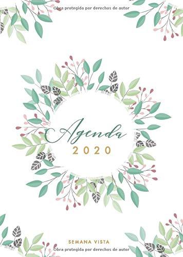 Agenda 2020 Semana Vista: Agenda 2020 12 meses - Organiza tu...