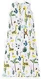 Chilsuessy - Saco de dormir para bebé (2,5 tog, algodón, sin mangas, 70 – 130 cm, 90 cm, altura del bebé 85 – 95 cm, jirafa)