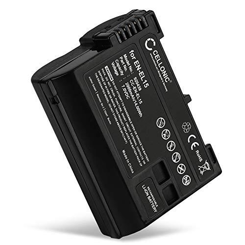 CELLONIC® Batería Premium Compatible con Nikon 1 V1 D7000 D7100 D7200 D750 D7500 D500 D600 D610 D800 D800E D810 D810A D810E D850, EN-EL15 EN-EL15a ENEL15 2000mAh EN EL15 ENEL15a bateria Repuesto Pila