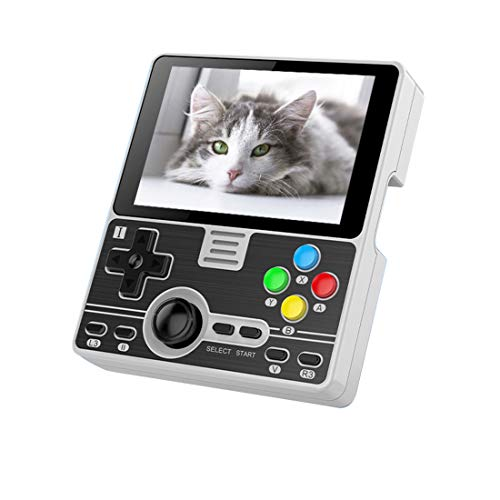Morton3654Mam Consola de videojuegos portátil RGB20, pantalla IPS de 3,5 pulgadas, consola de videojuegos portátil, módulo WiFi integrado, multijugador en línea, juego abierto, color gris